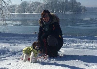 Ayliena und ich im Januar 2017